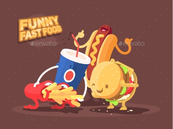 Fast Food Characters - Food Objects