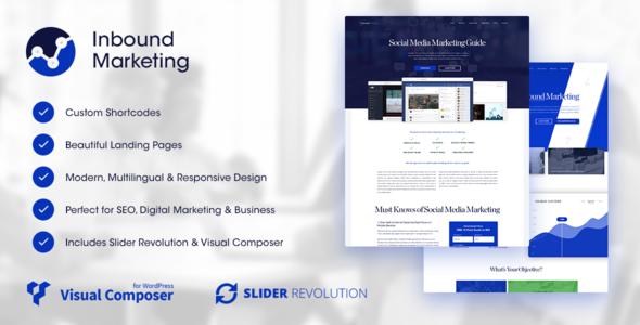 Download Inbound Marketing | Inbound, Landing Page WordPress Theme