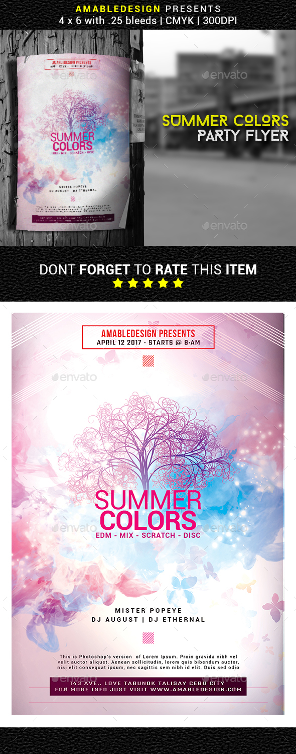Summer Colors Flyer - Events Flyers