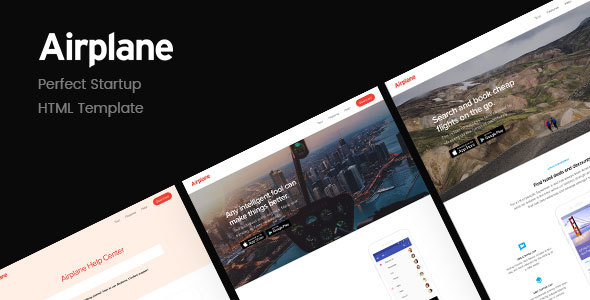 Airplane | Startup HTML Template