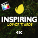 Inspiring Lower Thirds For FCPX - VideoHive Item for Sale