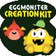 Egg Monster Creation Kit - GraphicRiver Item for Sale