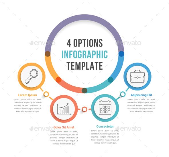 Four Options Infographics - Infographics