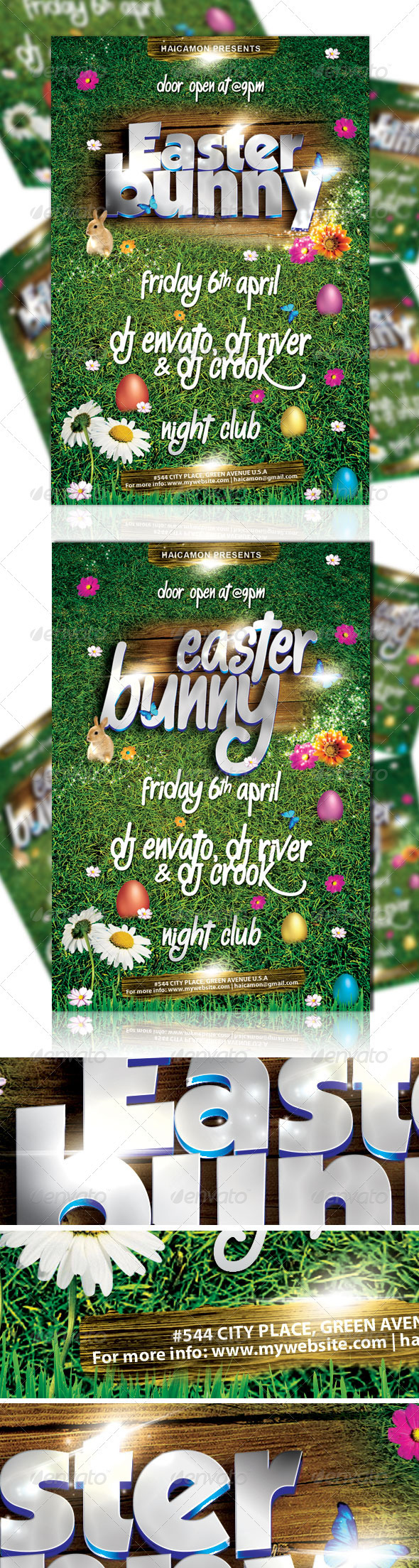 Easter Bunny Party Flyer Vol_2 - Holidays Events