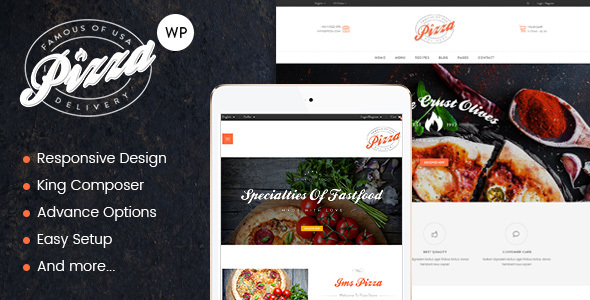 JMS Pizza - Responsive WordPress Theme - WooCommerce eCommerce