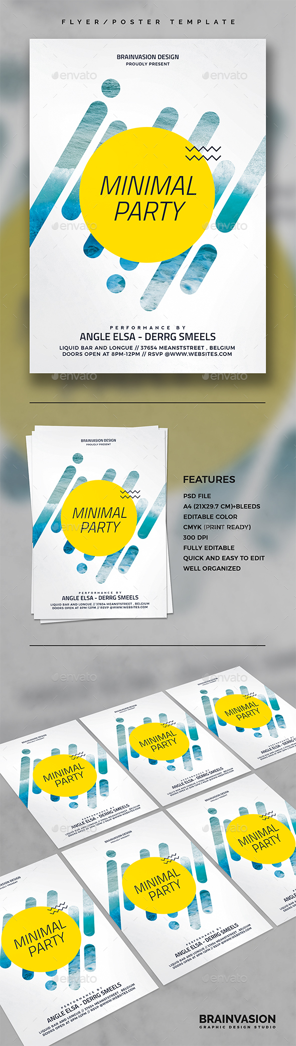 Minimal Flyer/Poster Template Vol.03 - Events Flyers