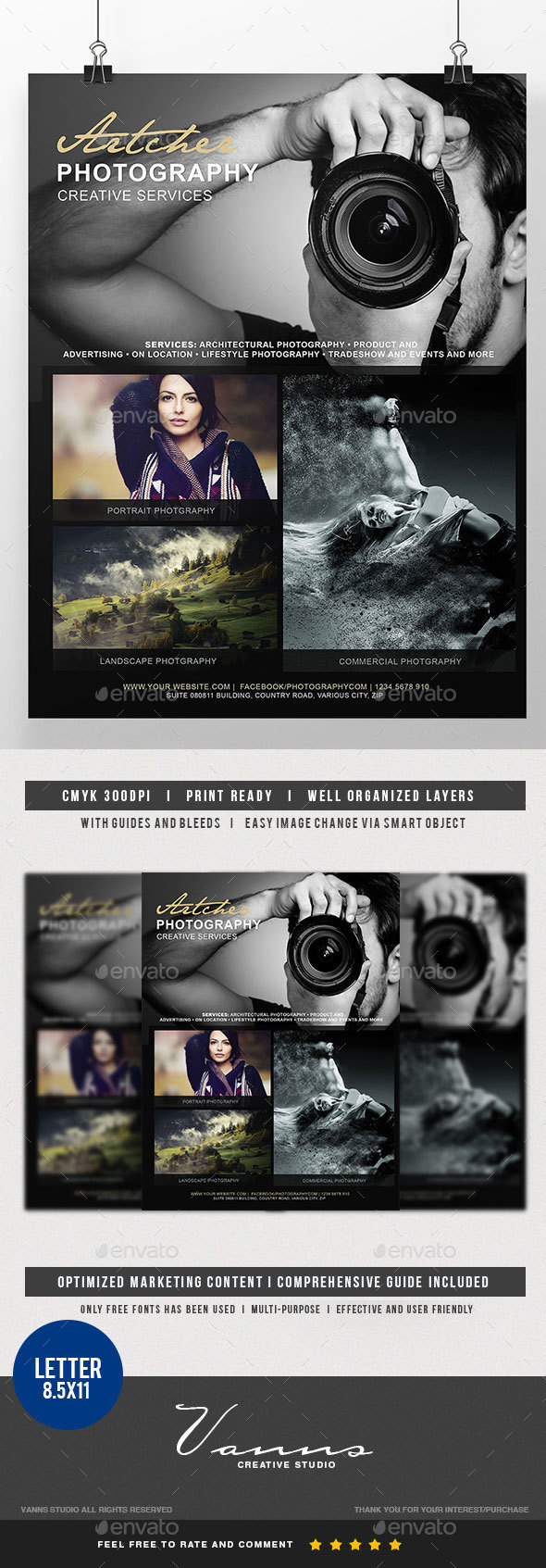 Photography Services Flyer - Commerce Flyers