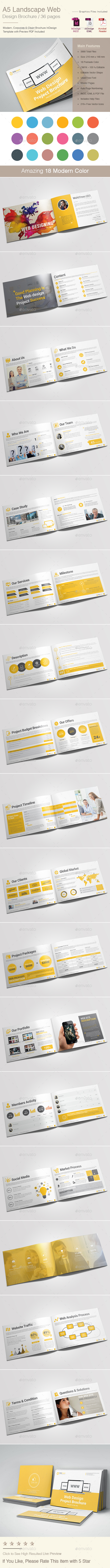 A5 Landscape Web Design Brochure - Corporate Brochures