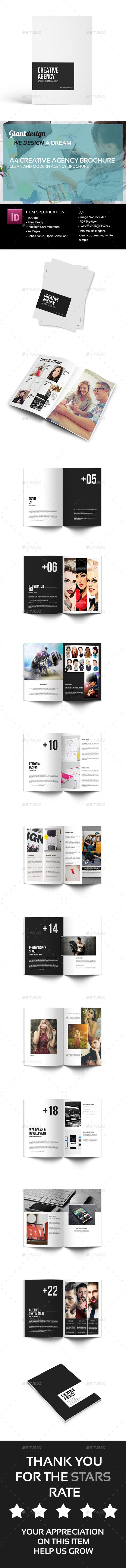 Creative Agency - A4 Portfolio Brochure - Portfolio Brochures