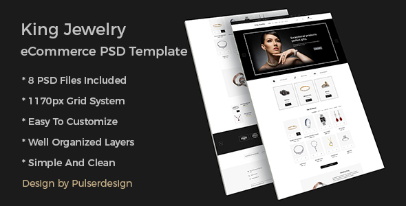King Jewelry eCommerce PSD Template - PSD Templates