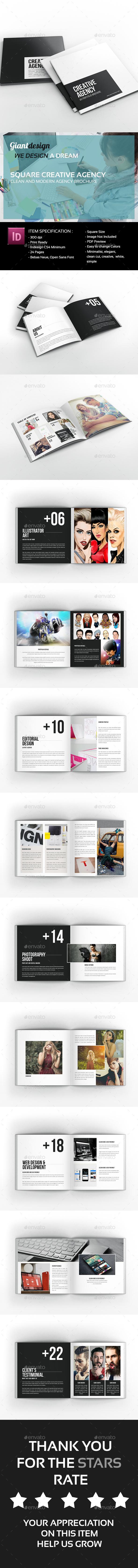Creative Agency - Square Portfolio Brochure - Portfolio Brochures