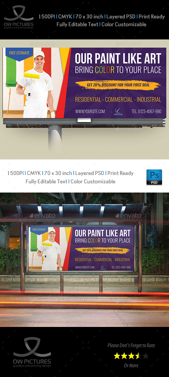 Painter Billboard Template - Signage Print Templates
