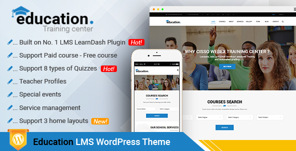 Education - LMS Responsive WordPress Theme