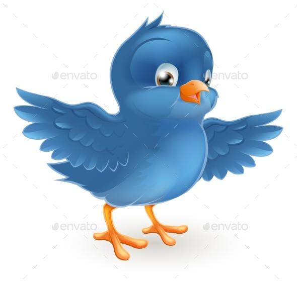 Happy Bluebird - Animals Characters