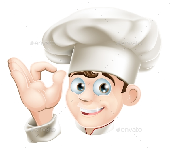 Smiling Cartoon Chef - People Characters