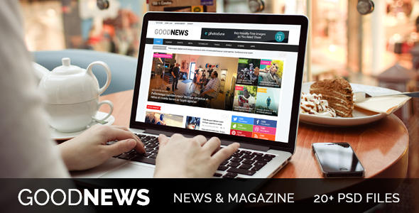 Good News - Newspaper, Magazine & Blog Template - PSD Templates