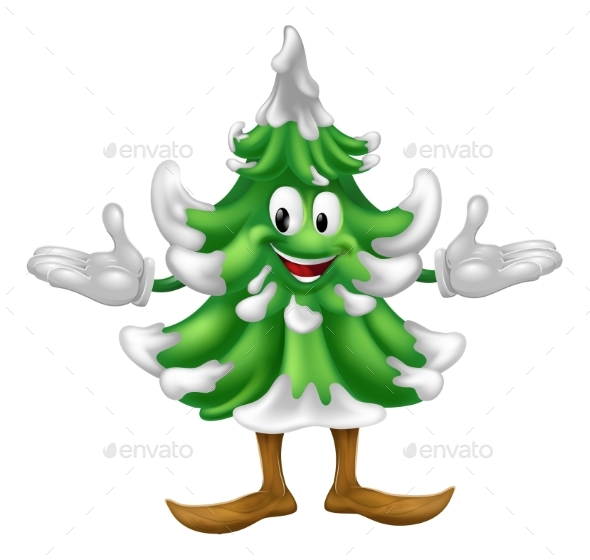Christmas Tree Mascot Character - Christmas Seasons/Holidays