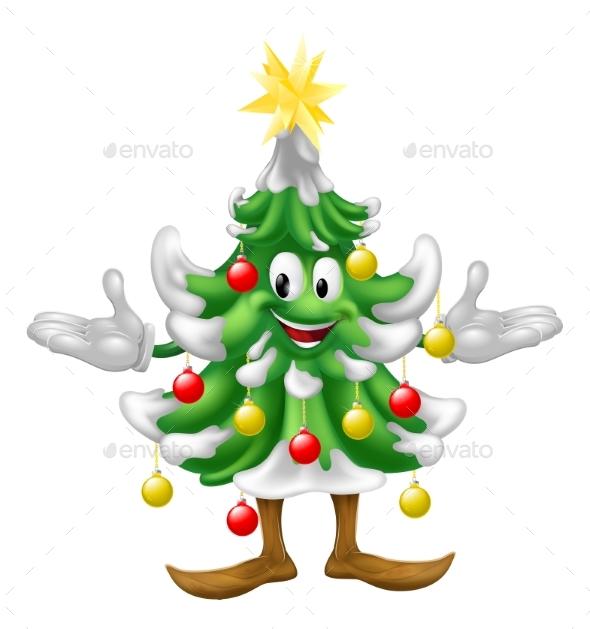 Decorated Christmas Tree Man - Christmas Seasons/Holidays