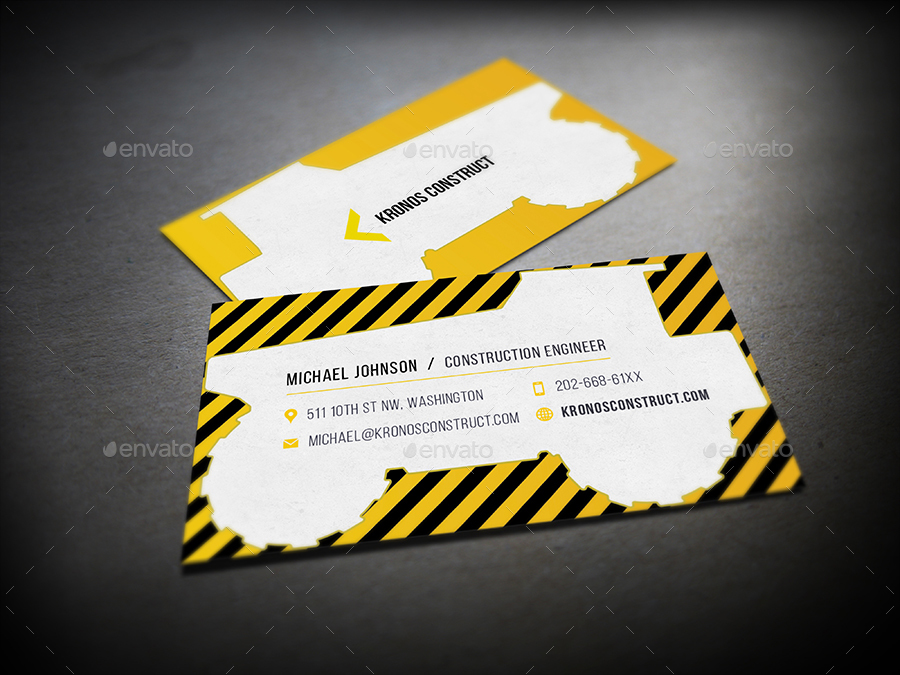 Construction Business Card by mediabq | GraphicRiver
