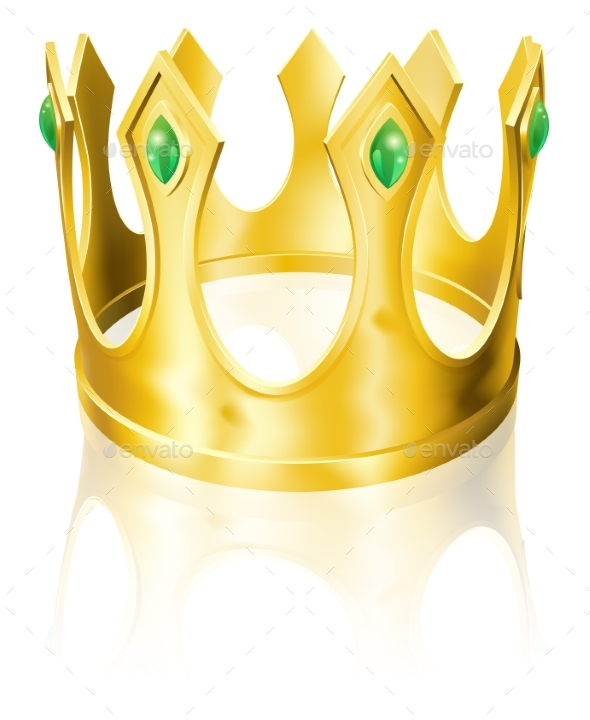 Gold Crown Illustration - Miscellaneous Vectors