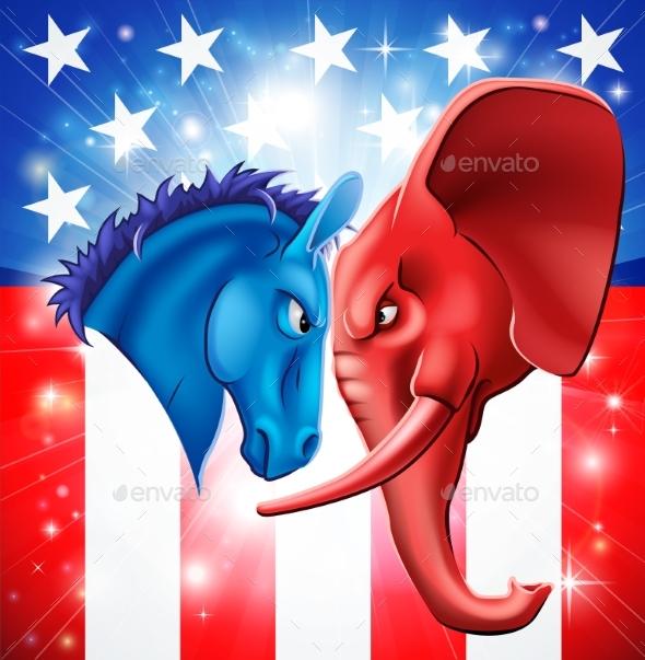 American Politics Concept - Miscellaneous Vectors