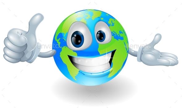 Globe Mascot Giving a Thumbs Up - Miscellaneous Vectors
