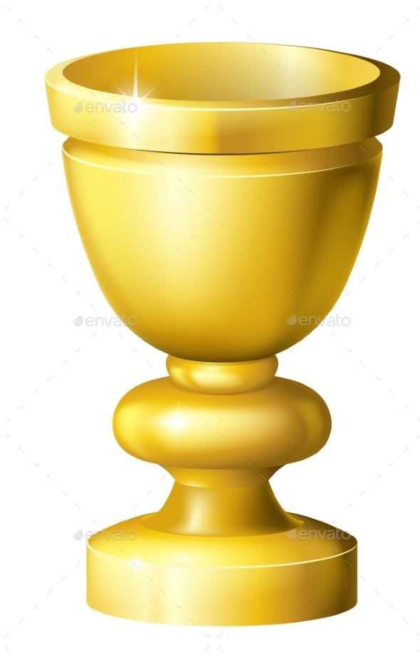 Golden Cup Grail or Goblet - Miscellaneous Vectors