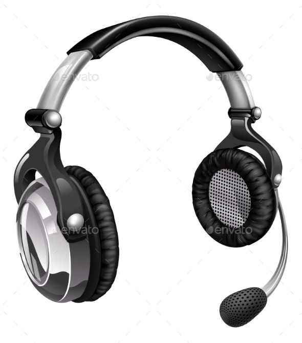 Microphone Headset - Man-made Objects Objects