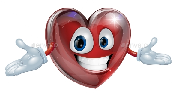 Heart Cartoon Man Illustration - Miscellaneous Characters