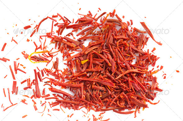 saffron spice - Stock Photo - Images