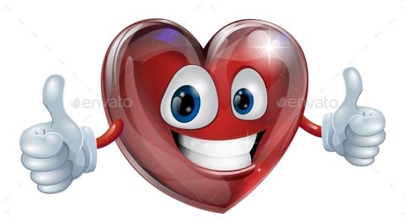 Heart Mascot Graphic - Miscellaneous Vectors