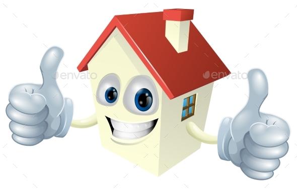 Cartoon House Mascot - Miscellaneous Vectors