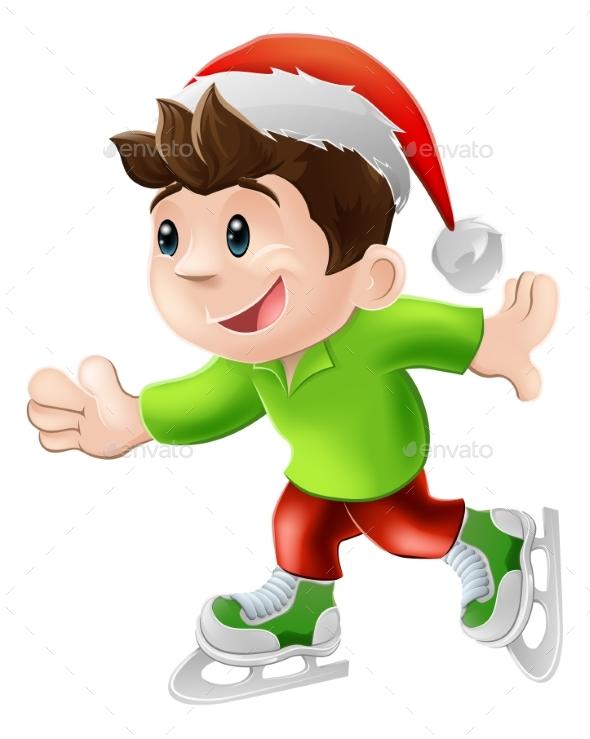 Christmas Ice Skater - Christmas Seasons/Holidays
