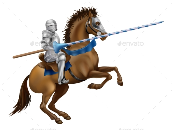 Jousting Knight - Miscellaneous Vectors