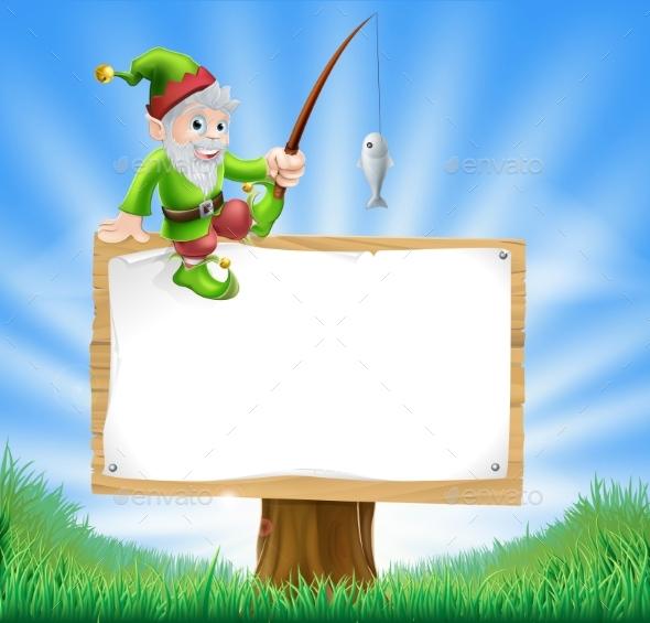 Garden Gnome or Elf Sign - Miscellaneous Vectors