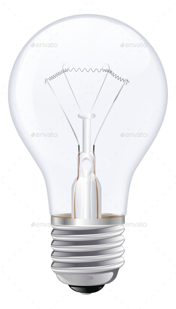 Light Bulb Illustration - Man-made Objects Objects