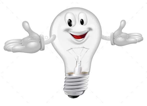 Light Bulb Mascot - Miscellaneous Characters