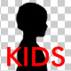 Girl and Boy - Kids Silhouettes - VideoHive Item for Sale