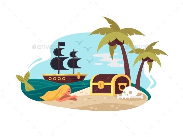 Pirate Uninhabited Island - Miscellaneous Vectors