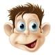 Laughing Monkey Face Cartoon