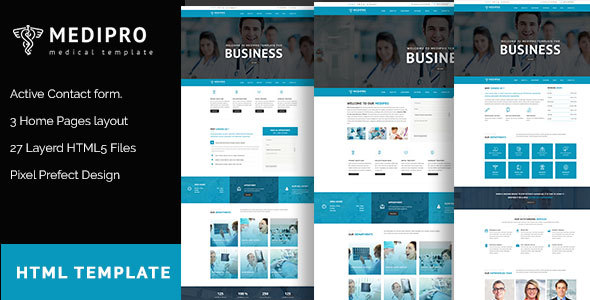 MediPro – Health & Medical HTML5 Responsive Template
