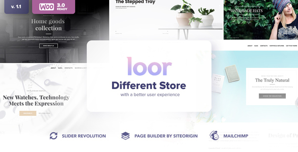 LOOR – One Page WooCommerce AJAX Theme