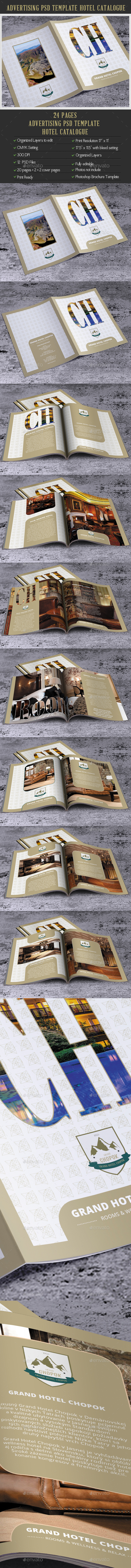 Advertising PSD Template Hotel Catalogue - Catalogs Brochures
