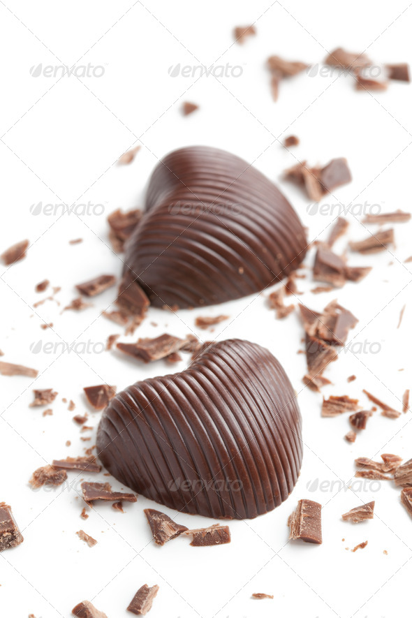 chocolate hearts - Stock Photo - Images