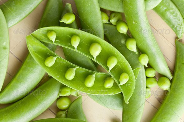 green peas pods - Stock Photo - Images