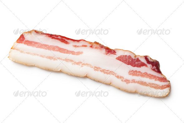 smoked bacon - Stock Photo - Images