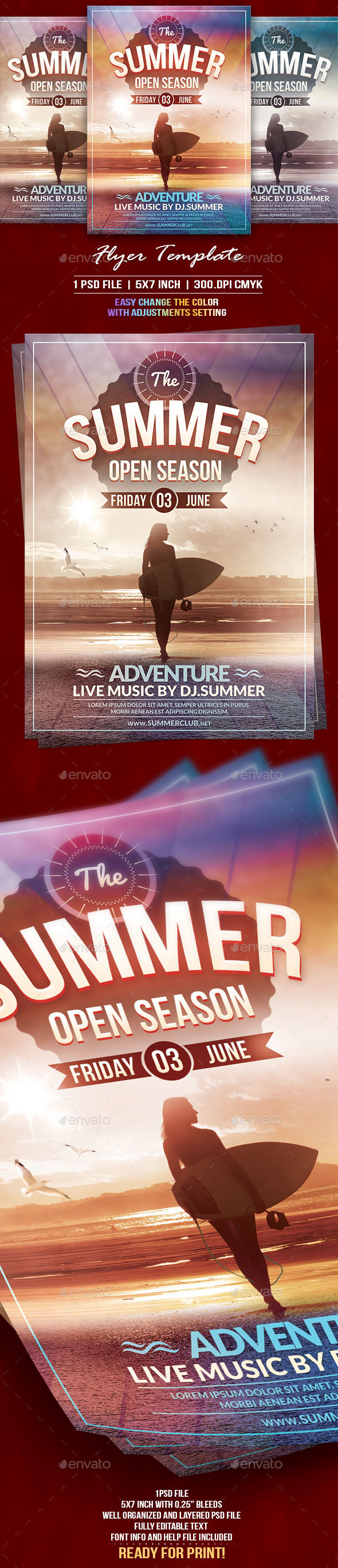 The Summer Flyer Template - Events Flyers
