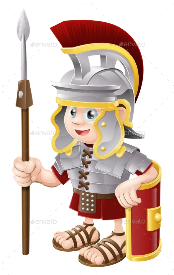 Cartoon Roman Soldier - People Characters
