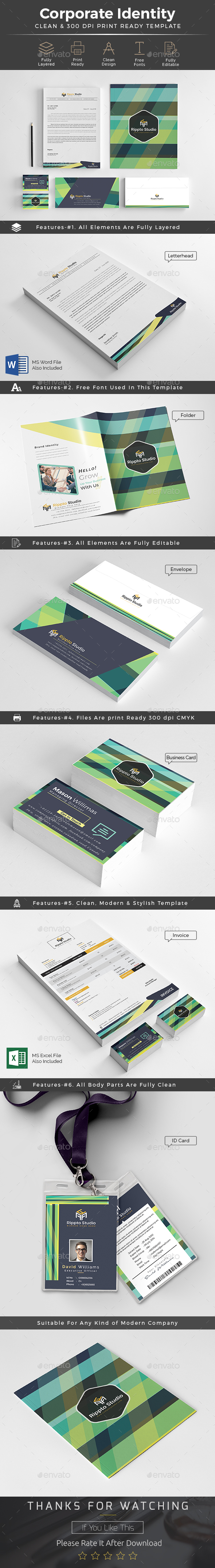 Branding Identity Pack / Office Stationery - Stationery Print Templates
