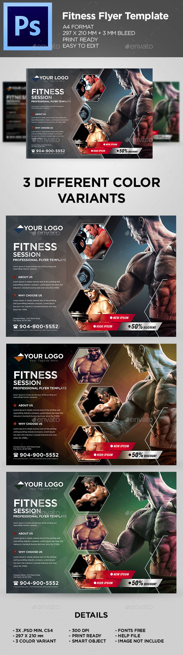 Fitness Flyer / Gym Business Flyer Template - Sports Events